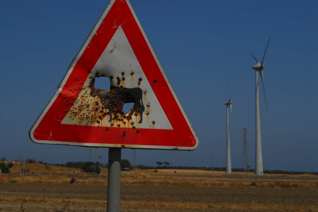Der Windpark in Isola di Capo Rizzuto wirkt nicht gerade friedlich. (c) Sandro Mattioli
